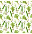 lemongrass seamless pattern background vector image