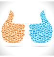 like hand show social media vector image vector image