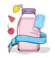 mason jar fruit juice vector image vector image