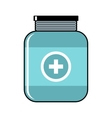 Medical bottle cartoon icon on white background vector image vector image