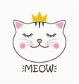 meow cat print vector image vector image