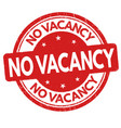 no vacancy sign or stamp vector image vector image