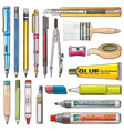 Office Supplies isolate background vector image vector image