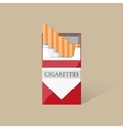 Open cigarettes pack box vector image