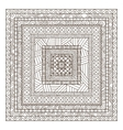 Original drawing tribal doddle rectangle vector image vector image