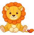 plush toy lion vector image vector image