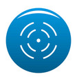 point radar icon blue vector image vector image