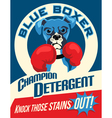 poster boxer dog vector image vector image