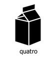 quatro packag icon simple black style vector image