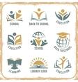 Retro style school logos vector image vector image