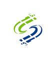 S letter digital technology logo vector image vector image