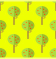 seamless pattern with apple trees on yellow vector image