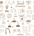 Seamless pattern with doodle sketch business icons vector image vector image