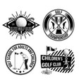 set golf emblems labels badges logos vector image vector image