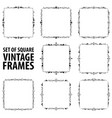 set of eight vintage elegant black frames vector image vector image