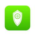 shield icon digital green vector image