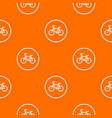 sign bike pattern seamless vector image vector image