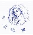 sketch of ballpoint pen on vector image