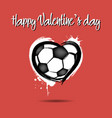 soccer ball shaped as a heart vector image