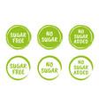 sugar free icon set natural food without