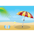 summer and sea background vector image vector image