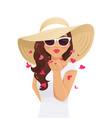 summer kiss woman vector image vector image