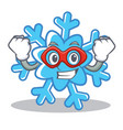 super hero snowflake character cartoon style vector image vector image