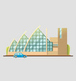 theater building design flat vector image