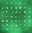 Thin line shopping and business icons set for web vector image