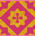 tile decorative floor pink and gold tiles pattern vector image vector image