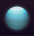 uranus planet icon isometric style vector image