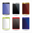 various color smart phones mock up symbols eps10 vector image vector image
