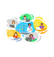 virtual class online school distance learning kids vector image