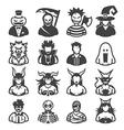 16 premium halloween costume icons vector image