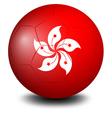 A soccer ball with the HongKong flag vector image vector image