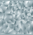 abstract irregular polygonal background gray vector image vector image