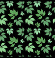 abstract natural green leaves seamless pattern vector image vector image