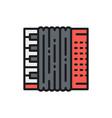 accordion bayan flat color line icon vector image vector image