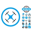 Airdrone Flat Icon with Bonus vector image vector image