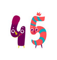 animallike character number forty five 45 vector image vector image