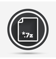 Archive file icon Download 7z button vector image vector image