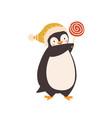 baby penguin with lollipop flat