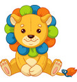 baby toy lion vector image vector image