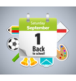 Back to school calendar vector image vector image