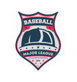 baseball major league championship vintage label vector image vector image