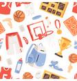 basketball sportswear and ball in net hoop