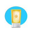 beautiful tube of suntan cream skin care beauty vector image vector image