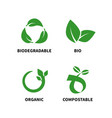 biodegradable and compostable concept reduce reuse vector image