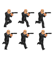 Body Guard Running Animation Sprite vector image vector image
