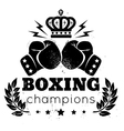 boxing champions plant vector image vector image